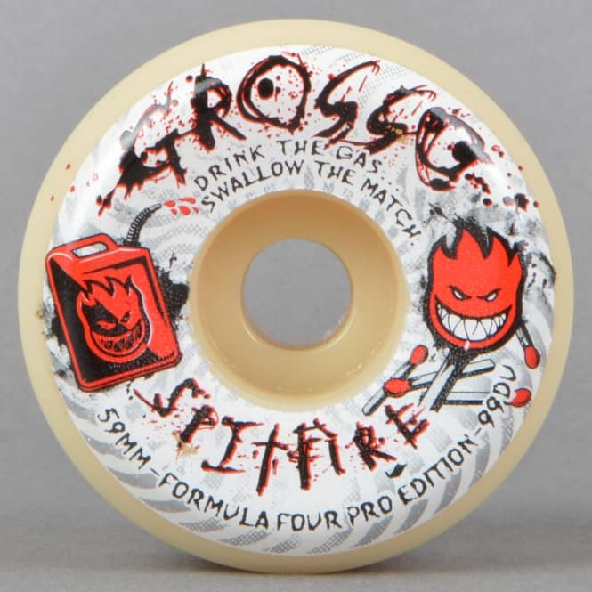 Spitfire Wheels Grosso Arsonist 99D Conical Full Formula Four Skateboard Wheels 59mm