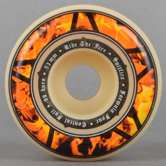 Spitfire Wheels Hellfire Conical Full 99D Formula Four Skateboard Wheels 53mm