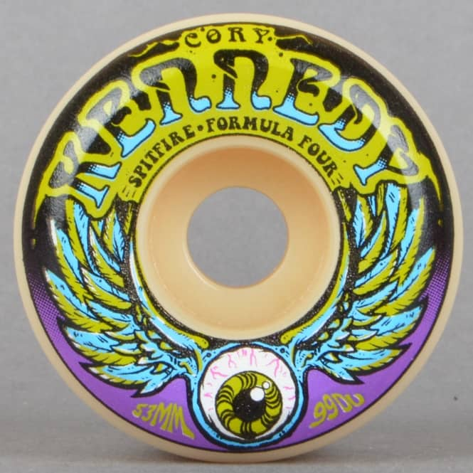 Spitfire Wheels Kennedy Dazed Formula Four 99D Conical Skateboard Wheels 53mm
