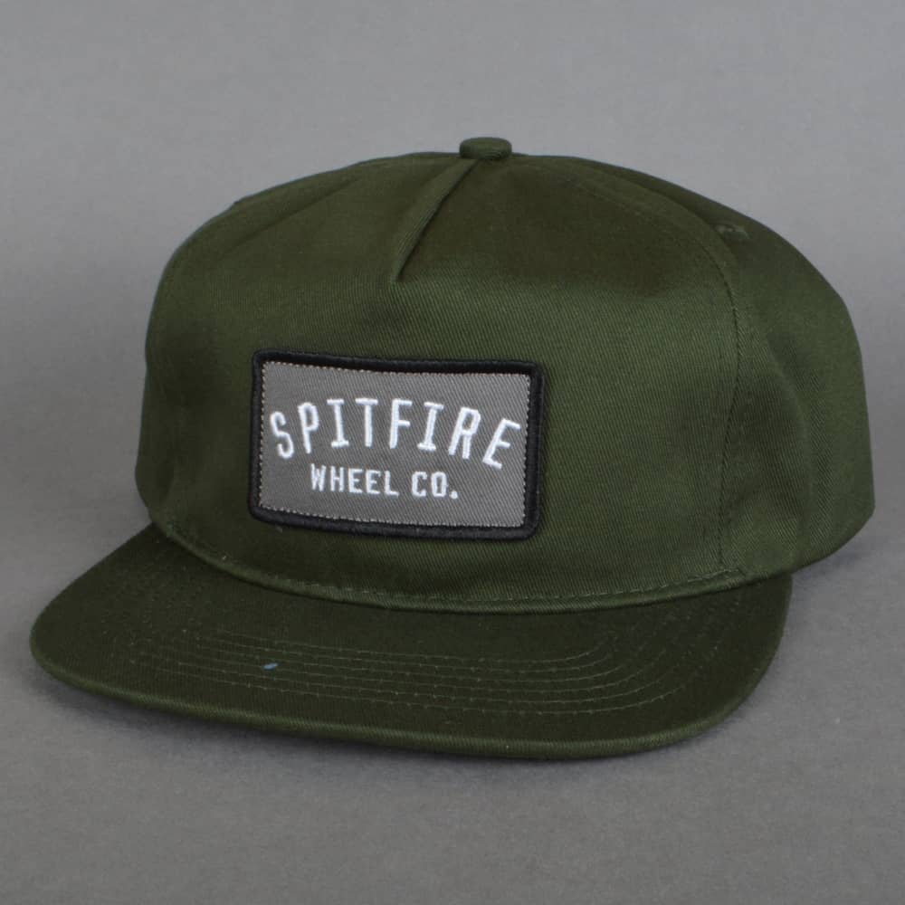 af9e427c8cf5f7 Spitfire Wheels Label Snapback Cap - Dark Green - SKATE CLOTHING ...