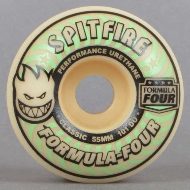 Spitfire Wheels Lit Formula Four Classic Glow In The Dark 101D Skateboard Wheels 55mm