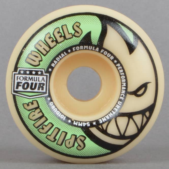 Spitfire Wheels Lit Formula Four Radials Glow In The Dark 101D Skateboard Wheels 54mm