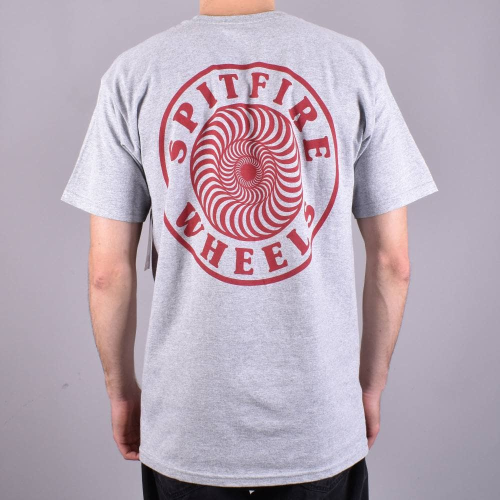 Spitfire Wheels OG Circle Outline Skate T-Shirt - Athletic Heather