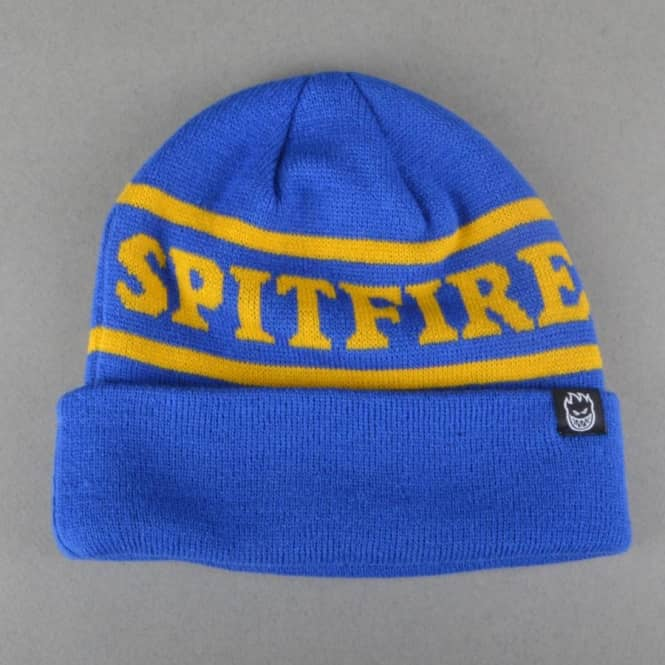 Spitfire Wheels OG Classic Cuff Beanie - Royal Blue/Yellow