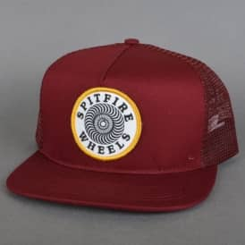 Spitfire Wheels OG Classic Patch Trucker Cap - Maroon