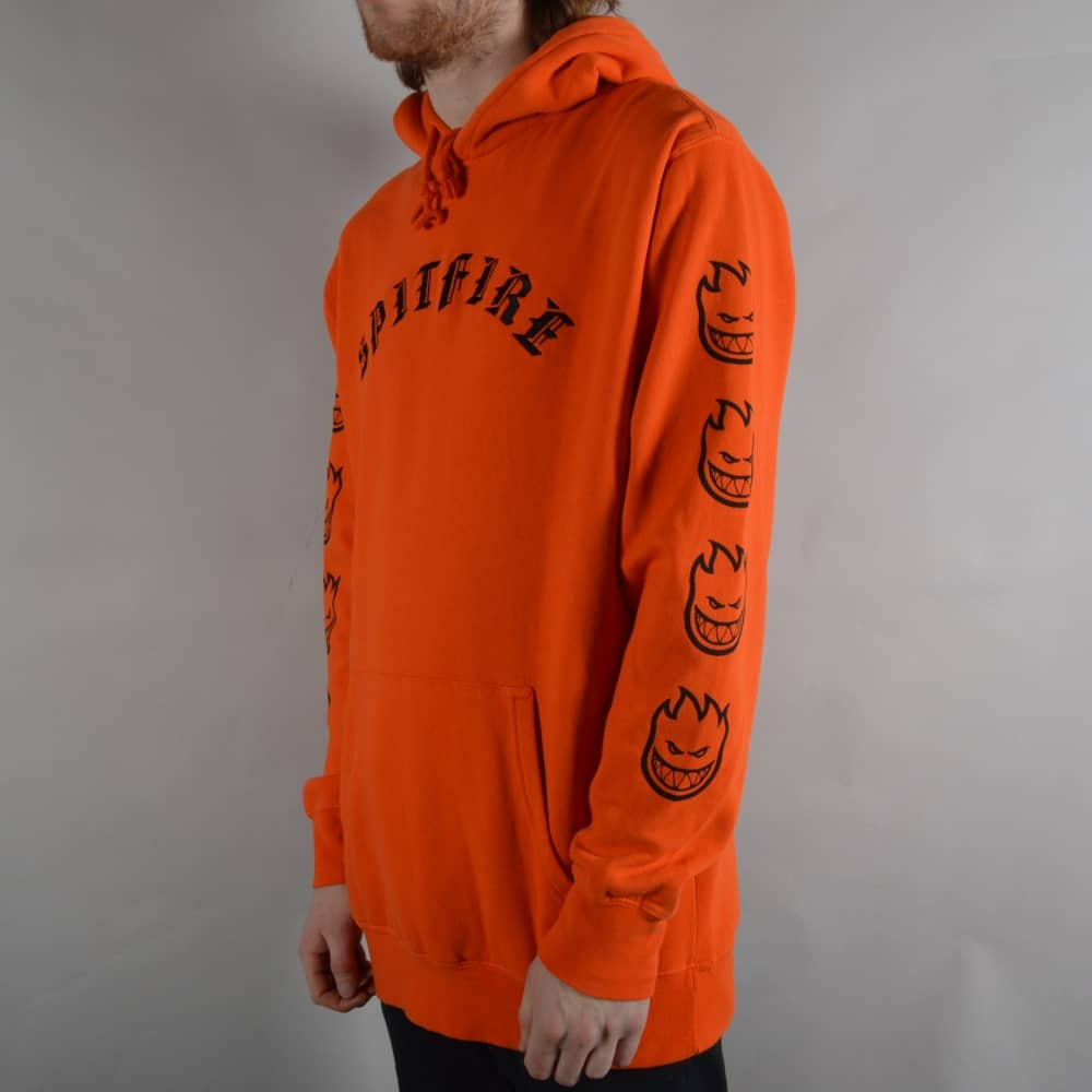 b2fd38e9a Spitfire Wheels Old E Embroidered Pullover Hoodie - Orange/Black ...