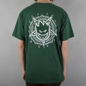 Spitfire Wheels Pentaburn Double Skate T-Shirt - Forest Green