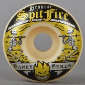 Spitfire Wheels Raney Firewater 99D Classic Formula Four White Skateboard Wheels 52mm