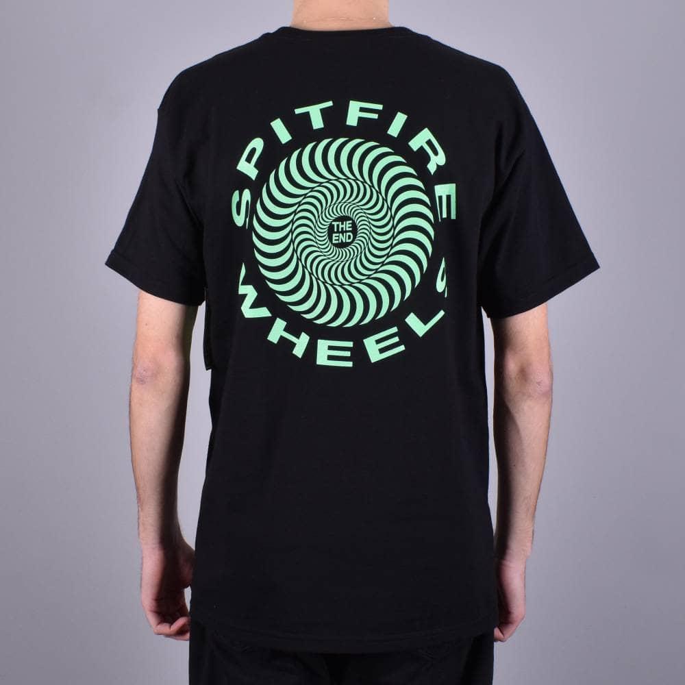 Spitfire Skateboard Shirt Flying Classic Pocket Black//Glow