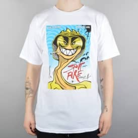 Spitfire Wheels Spit And Loathing Skate T-Shirt - White
