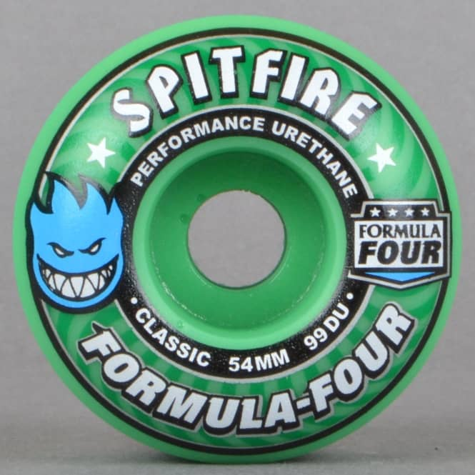Spitfire Wheels Spitfire Formula Four Classic 99 Duro Ice Mint Skateboard Wheels 54mm