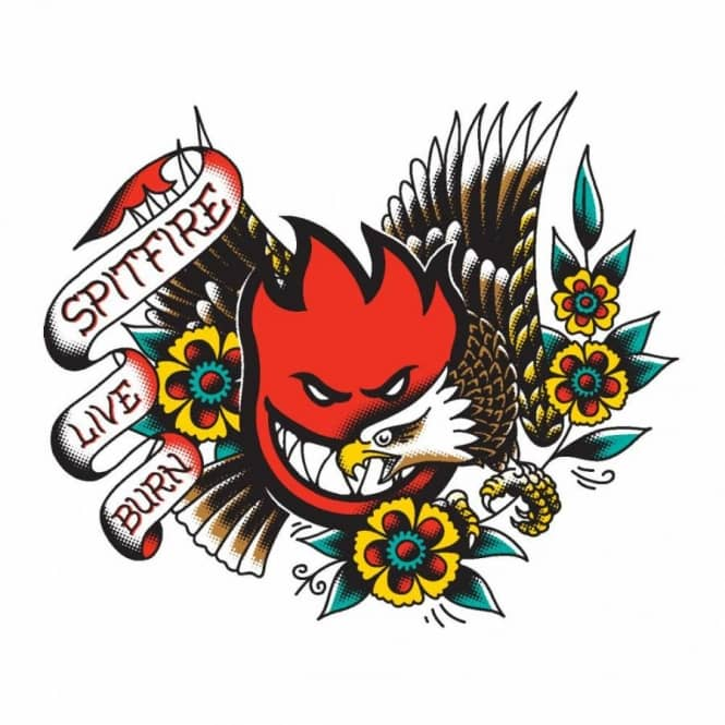 Spitfire og flash eagle skateboard sticker