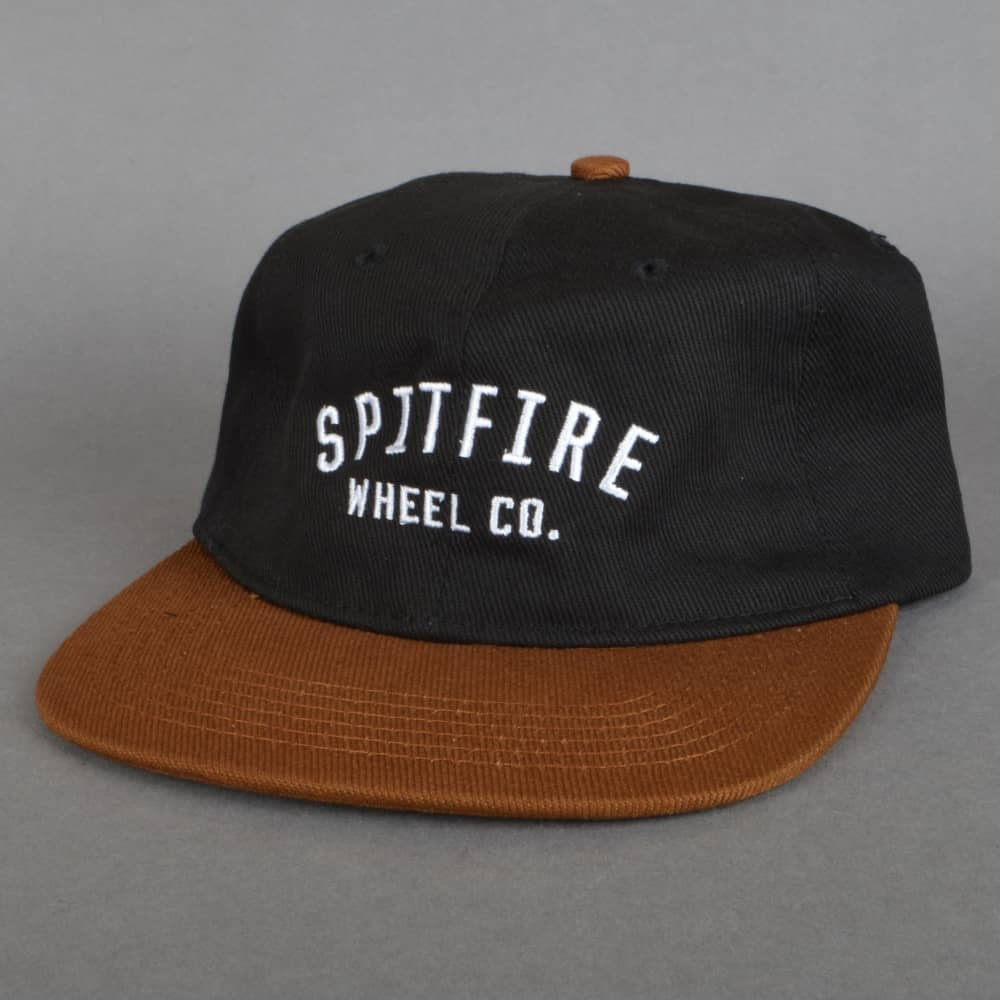 7e2403dd0ac992 Spitfire Wheels Wheel Co. Strapback Cap - Black/Brown - SKATE ...