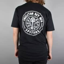 Spitfire Wheels x Skeleton Key MFG Pocket T-Shirt - Black