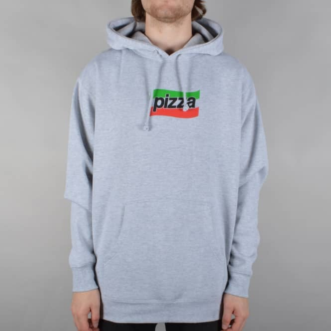 Pizza Skateboards Spizza Pullover Hoodie - Heather Grey