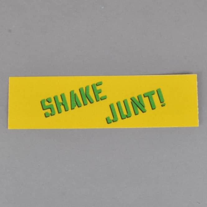 Shake Junt Spray Logo Skateboard Sticker - Yellow