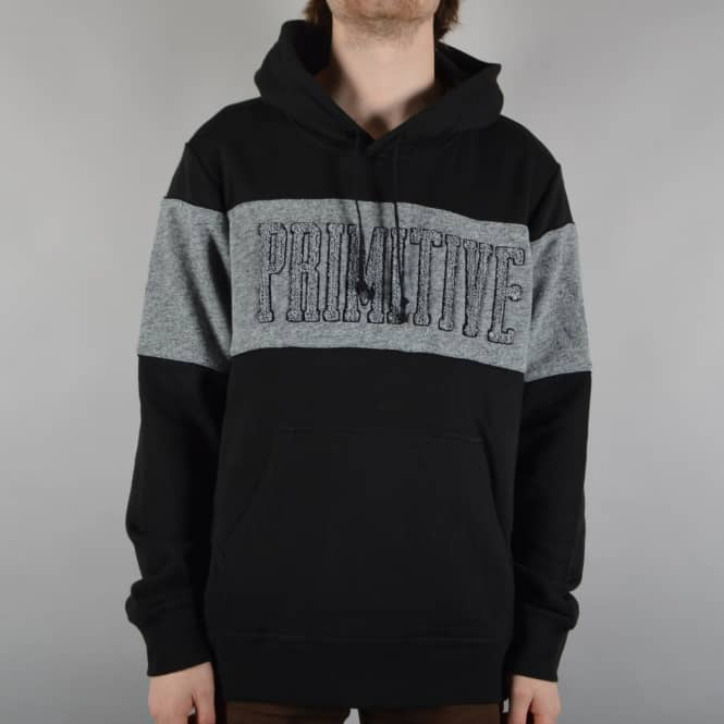 Primitive Apparel Sprinter Piped Pullover Hoodie - Black/Grey