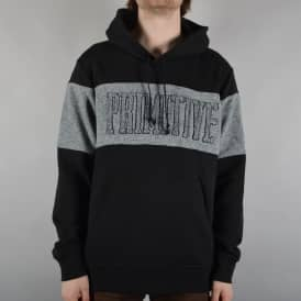 Sprinter Piped Pullover Hoodie - Black/Grey