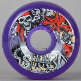 Staab Ghost Pirate Clear Purple SPF Skateboard Wheels 58mm