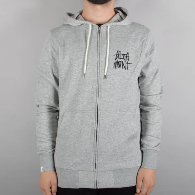 Altamont Stacked Logo Zip Hoodie - Grey/Black