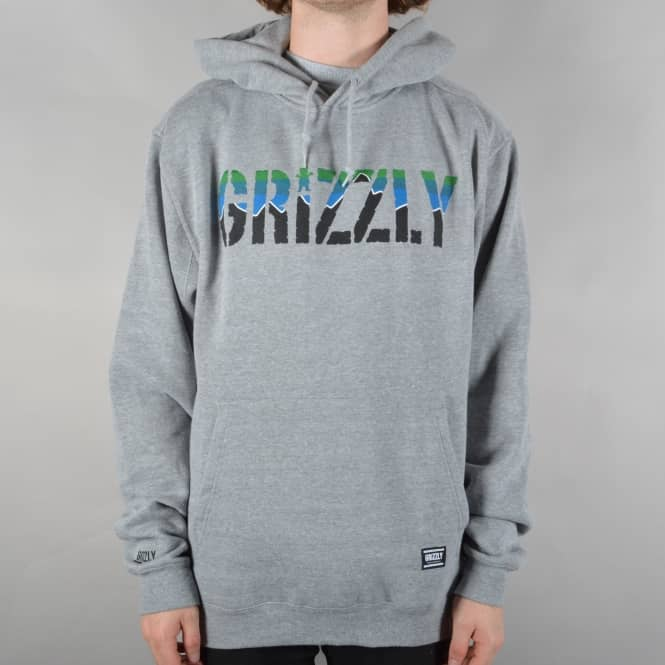 Grizzly Griptape Stamp Dawn Pullover Hoodie - Grey Heather