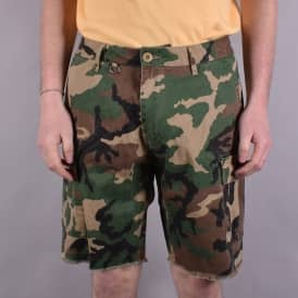 Standard Issue Cargo Shorts - Woodland Camo