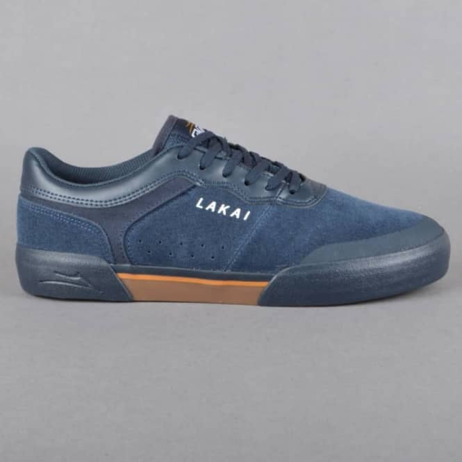 Lakai Staple Rick Howard Edition Skate Shoes - Navy/Gum Suede
