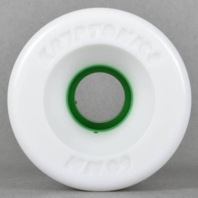 Kryptonics Star Trac White/Green 97A Skateboard Wheels 60mm