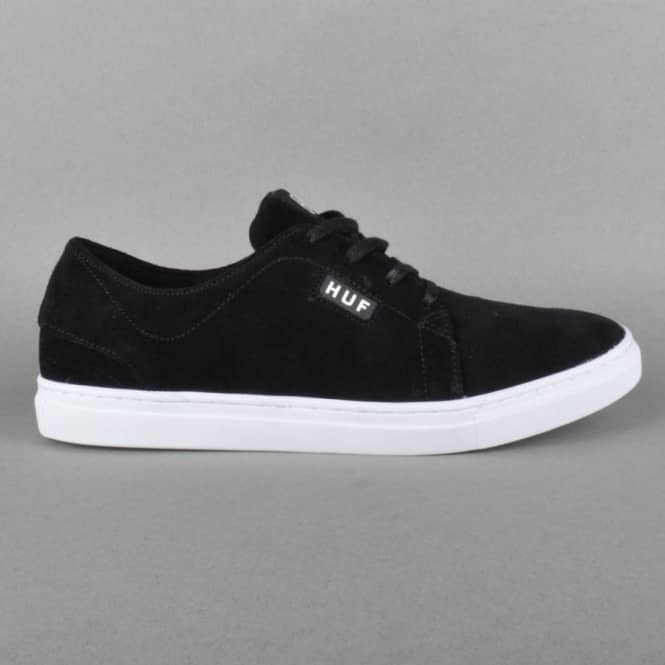HUF State Skate Shoes - Black/White