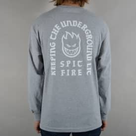 Steady Rockin' Bighead Longsleeve T-Shirt - Athletic Heather Grey