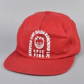 Steady Rockin Snapback Cap - Red