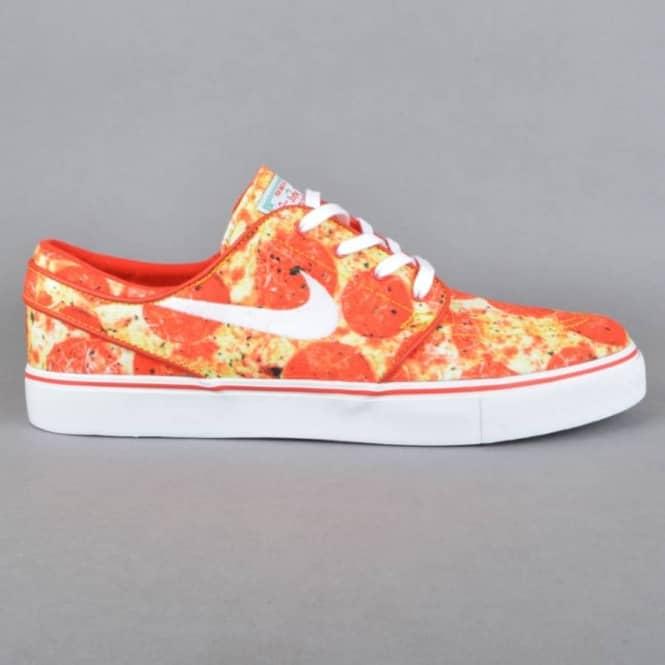 Stefan Janoski QS Skate Mental Pizza Skate Shoes - University  Red/White-Multi Color