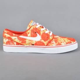 Stefan Janoski QS Skate Mental Pizza Skate Shoes - University Red/White-Multi Color