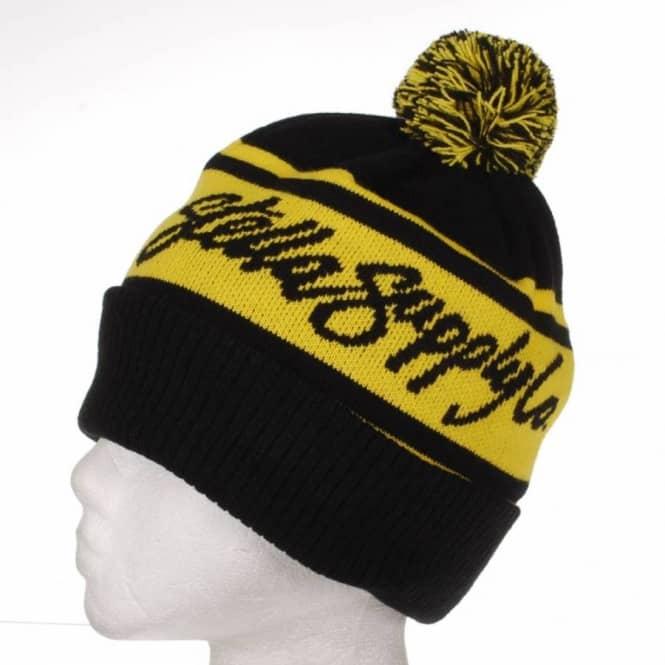 da1dc93bba8 Stella Supply Co. Bobble Beanie - Black Yellow - SKATE CLOTHING from ...