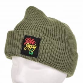 Stella Supply Co. Fold Up Beanie Olive