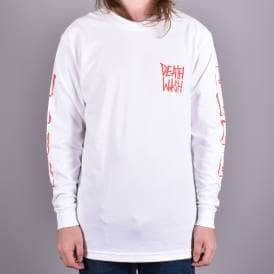 dc04474d Stencil Long Sleeve Skate T-Shirt - White