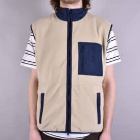 Stenstrom Fleece Vest - Sand/Navy