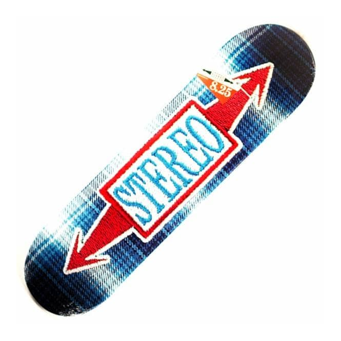Stereo Skateboards Stitched Arrow Blue Skateboard Deck 8.25''
