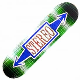 Stereo Skateboards Stitched Arrow Green Skateboard Deck 8.5''