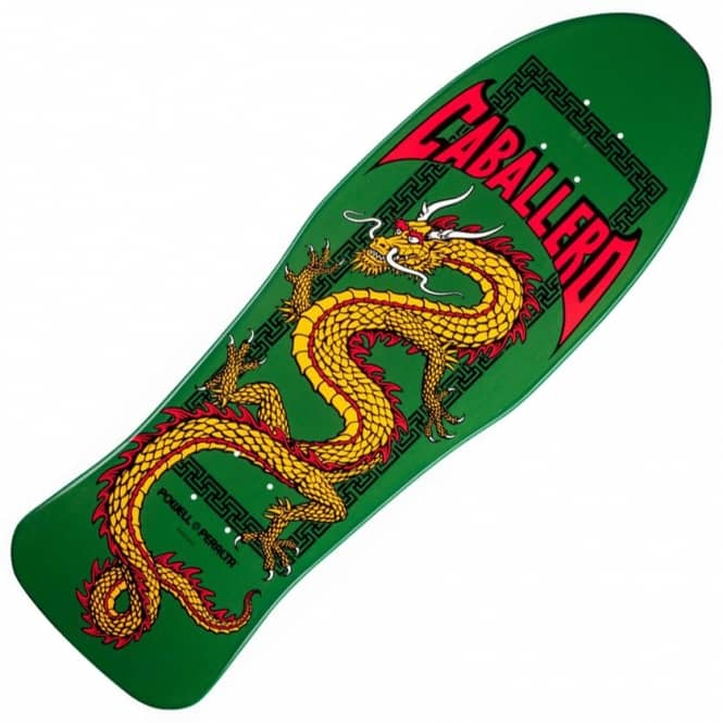 Powell Peralta Steve Caballero Retro Chinese Dragon Green Skateboard Deck 10.0