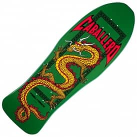 Steve Caballero Retro Chinese Dragon Green Skateboard Deck 10.0