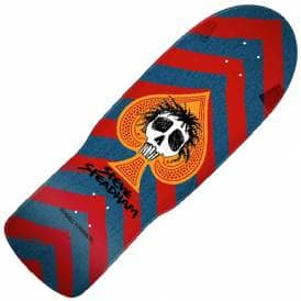 Steve Steadham Skull And Spade Red/Blue Reissue Skateboard Deck - 10.0