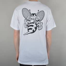 Santa Cruz Skateboards Stinger Skate T-Shirt - White