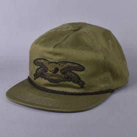 Stock Eagle Patch Snapback Cap - Olive Green
