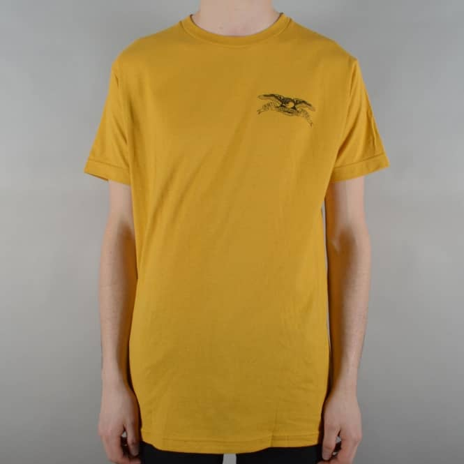 Antihero Skateboards Stock Eagle Skate T-Shirt - Mustard