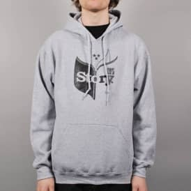 Story Open Book Pullover Hoodie - Grey