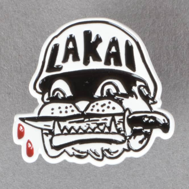 Lakai Street Dogs Pin Badge - White
