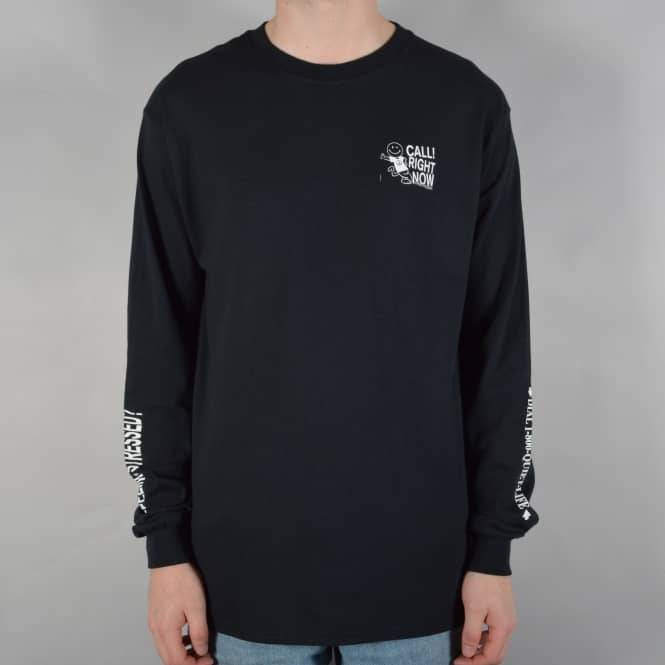 The Quiet Life Stressed Out Longsleeve T-Shirt - Black