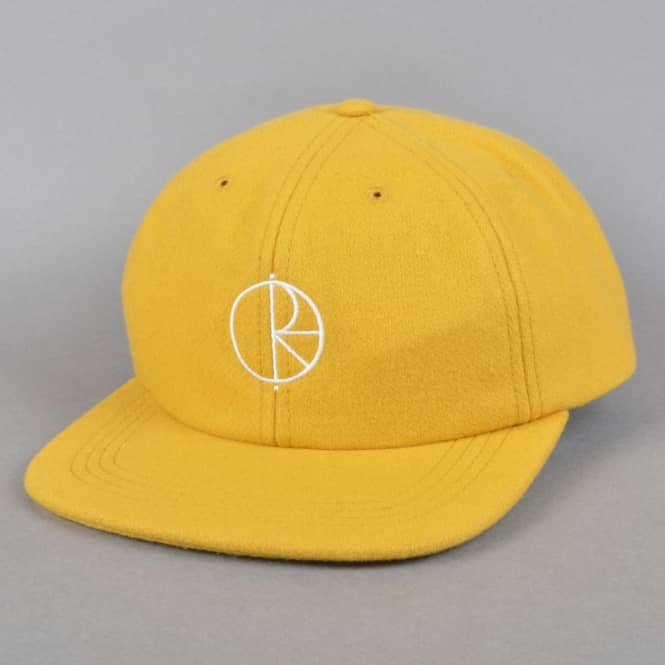 Polar Skateboards Stroke Logo Wool Cap - Yellow