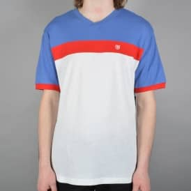 Substance Short Sleeve Knited Tee - White/Royal